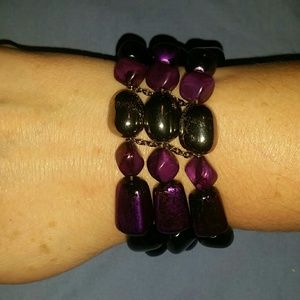 beads + stones bracelet